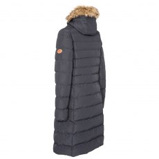 PADDED LONG LENGTH JACKET WITH FUR TRIM HOOD