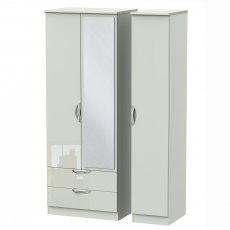 Camden Tall Triple 2 Drawer Mirror Robe