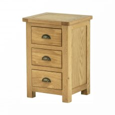 Lulworth Oak 3 Drawer Bedside