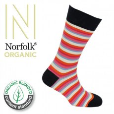 Socks Organic Fine Stripe