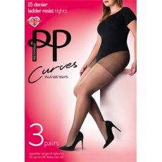 Curves 15D Ladder Resist Sheet Tights 3 Pair Pack