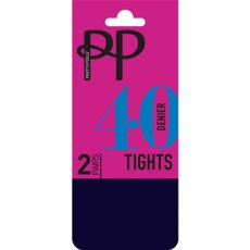 40D Opaque Tights 2 Pair Pack