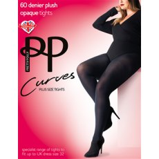 Curves 60D Plush Opaque Tights