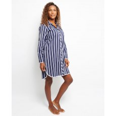 SATEEN STRIPE NIGHTSHIRT