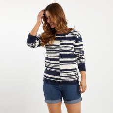 Lassen Mixed Stripe Slub Jumper