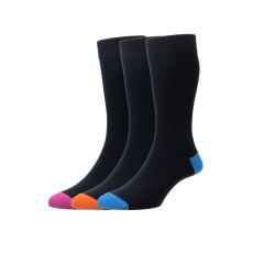 PLAIN CONTRAST SOCKS 3PK