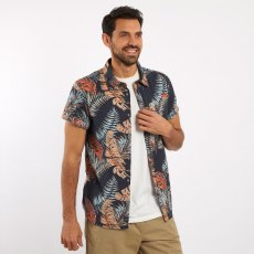Check Short Sleeve Shirt Fern Print