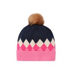 210203 Rothley Hat Argyle Knitted Hat