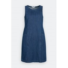 Stone Sculpture Dress Dark Wash Indigo