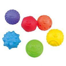 RAINBOW TEXTURED BALLS - 6 PCS