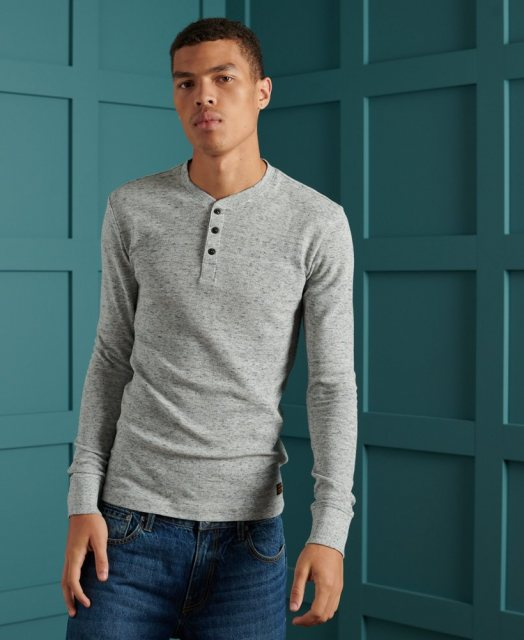 Superdry L/S MICRO TEXTURE HENLEY