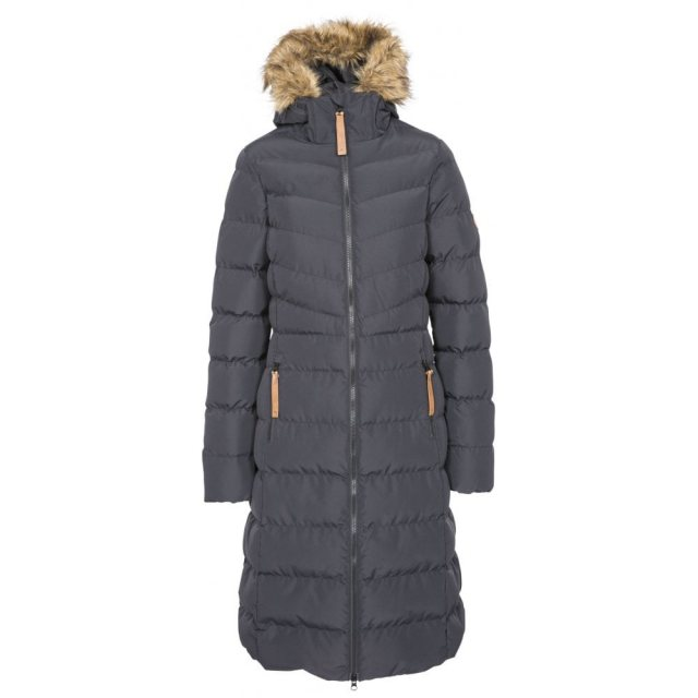 Trespass PADDED LONG LENGTH JACKET WITH FUR TRIM HOOD