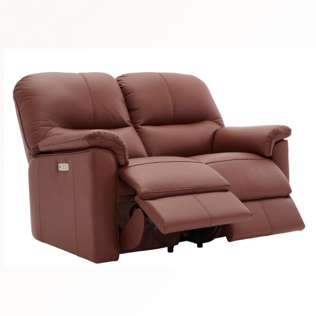 The Chadwick 2 Seater Recliner Sofa in leather from G Plan, a timeless classic sofa with a supremely