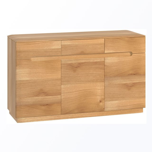 The Forma 3 door sideboard has simple clean lines which are modern and stylish.