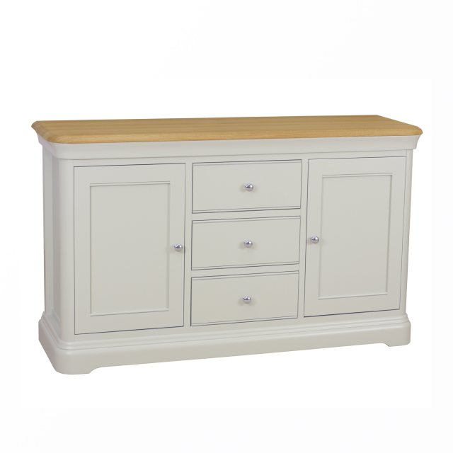 The Cromwell sideboard beautifully crafted combining natural oak is available in 6 painted finishes.