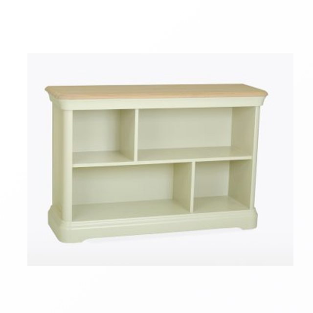 The Cromwell low bookcase is beautifully crafted combining natural oak and a painted finish.