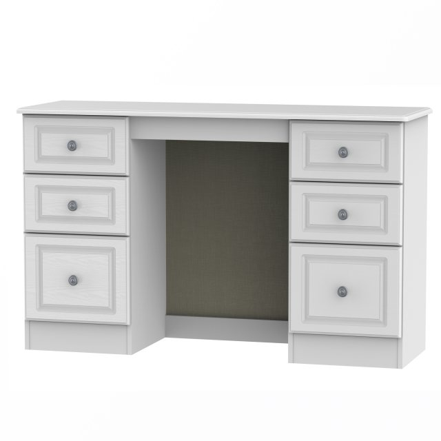 The Pembroke kneehole unit is available in 6 finishes.