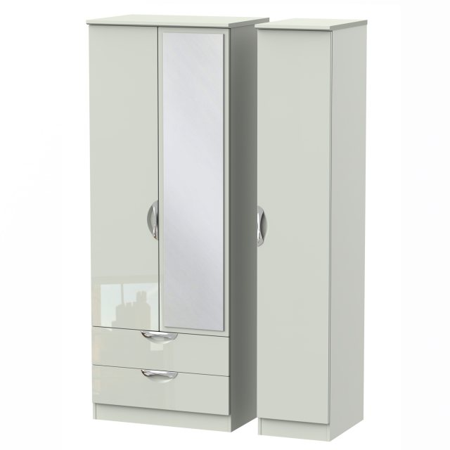 Camden Tall Triple 2 Drawer Mirror Robe available in an extensive range of gloss & natural finishes