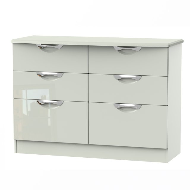 Camden 6 Drawer Midi Chest available in an extensive range of gloss and natural finishes