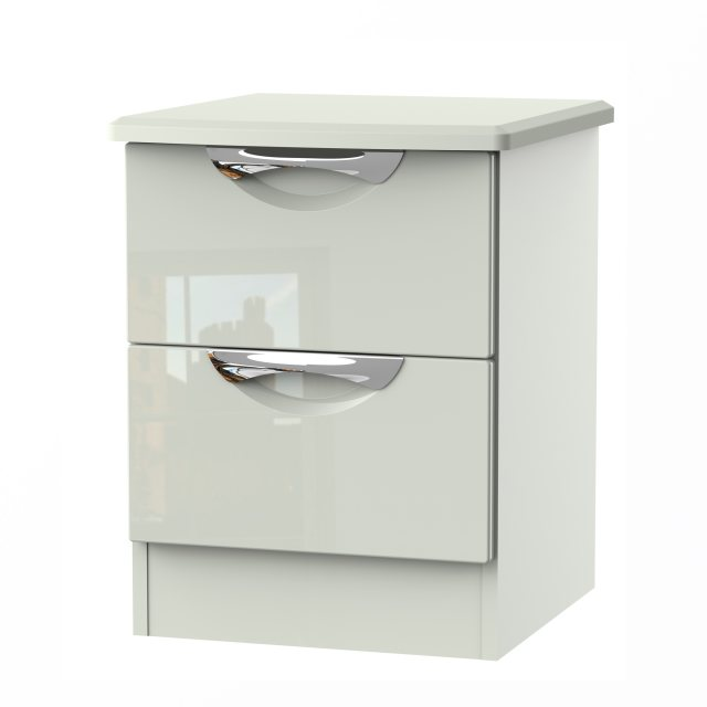The Camden 2 Drawer Locker is available in an extensive range of gloss and natural finishes