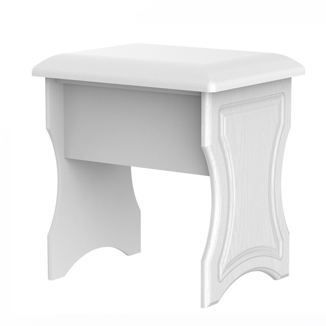 The upholstered Pembroke Stool is available in 6 finishes.