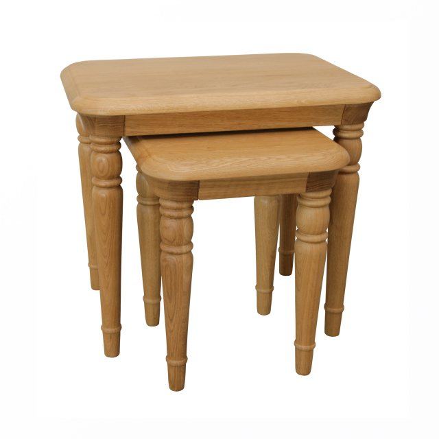 The Lamont nest of tables is beautifully crafted from solid oak and oak veneer.