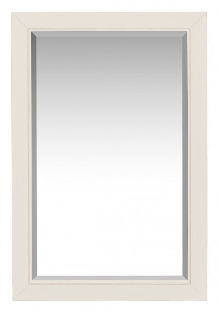 The white painted wall mirror's elegant, clean lined simplicity suits a wide range of decors