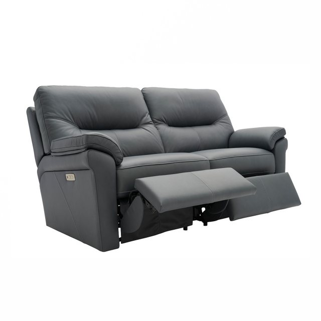 Recliner 2.5 seater sofa in leather from the Seattle range of sofas by G Plan.