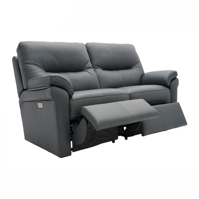 Recliner 2 seater sofa in leather from the Seattle range of sofas by G Plan.