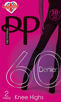 Pretty Polly 3D Fit 60D Knee Highs