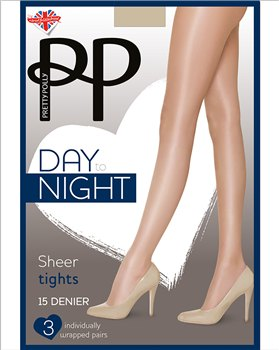 Pretty Polly Day To Night 15D Sheer Tights 3 Pair Pack