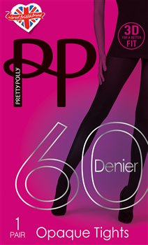 Pretty Polly 3D Fit 60D Opaque Tights