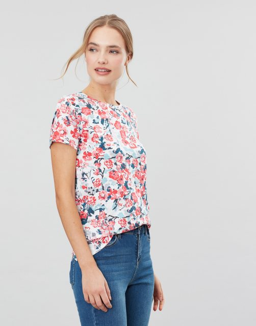 Joules 207773 Carley Print Classic Crew Chain Stitch Detail