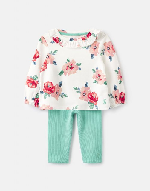 Joules BA 209381 Posie Frill Top And Legging Set