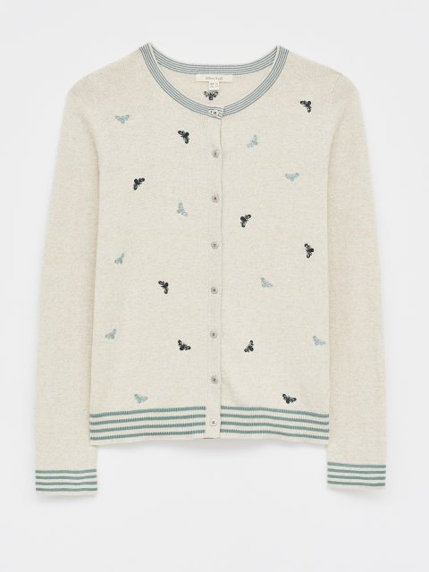 White Stuff Bee Embroidered Cardigan