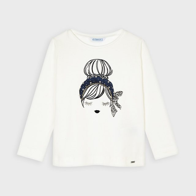 Mayoral G 4060 LS DOLL T-SHIRT